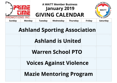 Prime Time Promotions January 2019
