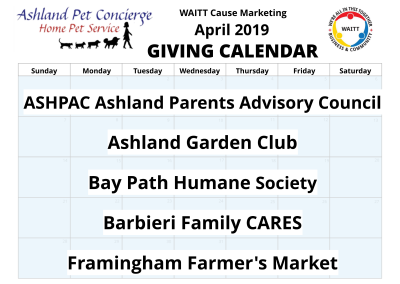 Ashland Pet Concierge - April 2019
