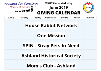 Ashland Pet Concierge - June 2019