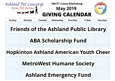 Ashland Pet Concierge - May 2019