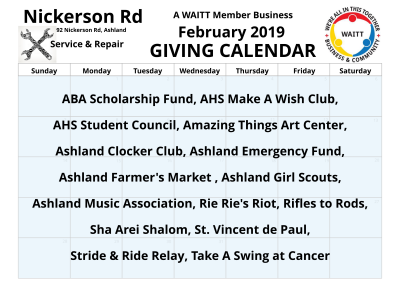 Nickerson Rd Service _ Repair February 2019