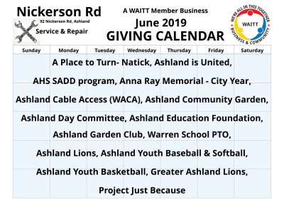 Nickerson Rd Service _ Repair June 2019