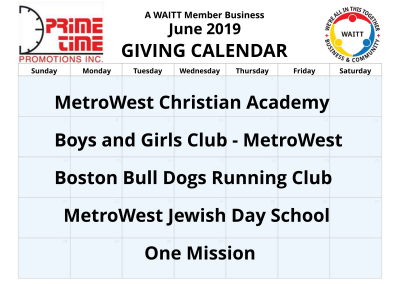 Prime Time Promotions June 2019
