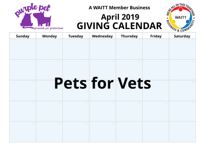 Purple pet April 2019