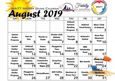 FAMILY PET HOSPITAL AUGUST 2019
