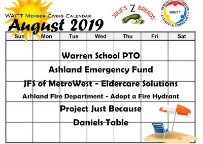 JULIE Z AUGUST 2019