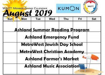 KUMON AUGUST 2019