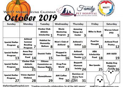 FAMILY PET HOSPITAL OCTOBER 2019