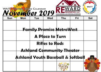 REWARD NOVEMBER 2019
